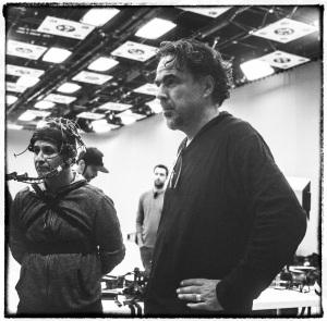 Alejandro G. Iñárritu al lavoro sul set di Carne Y Arena, foto di Chachi Ramirez