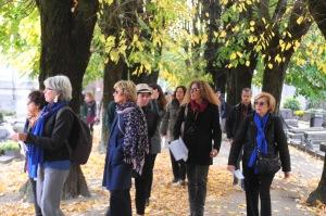 Melania Mazzucco al Cimitero Monumentale di Milano Foto di Carlo Rotondo