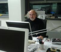 L'ex direttore de L'Europeo Salvatore Giannella in redazione