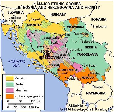 1994: gruppi etnico-religiosi nell'ex Jugoslavia.